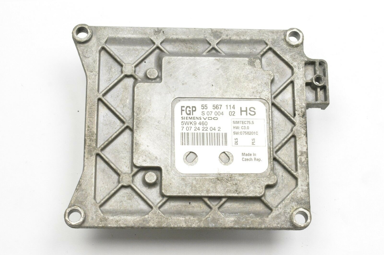 55567114 ASTRA H 1.6 ZAFIRA 5WK9460 HS VAUXHALL OPEL SIEMENS ENGINE ECU