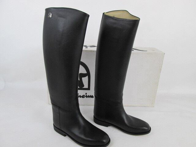 Veltheim reitbotas,  gaucho, cuero genuino. negro, talla 5 1 2, SHW 38 46, D. 49 38  forma única