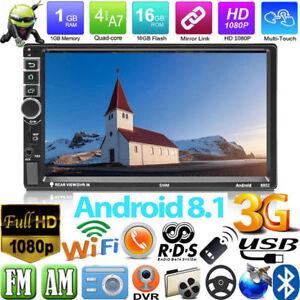 Android-8-1-Autoradio-mit-Navigation-NAVI-BLUETOOTH-USB-GPS-2-doppel-DIN-Kamera