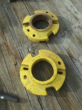 Vintage John Deere Tractor Rear Wheel Weights Set Pair Part D2628r