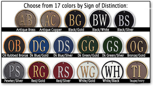 Whitehall Ivy Large Address Marker Estate Size Personalized Sign 17 Colors