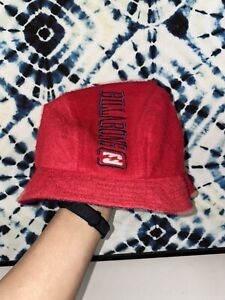 Vintage-Billabong-Bucket-Hat-Cap-Terry-Towel-Spell-Out-Embroidered-Surfwear