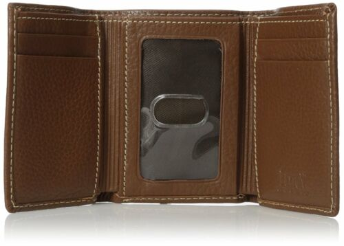 New Buxton High Quality Leather Men/'s Metropolis Threefold Wallet