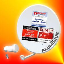 Opticum 80cm ALU Sat-Antenne + Opticum Single-LNB Spiegel Aluminium Schüssel
