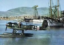 WWII Color Photo Luftwaffe Seaplane Ar 196  WW2 World War Two Germany   / 6024