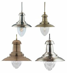Details About Fisherman Lantern Ceiling Light Antique Br Or Satin Silver Small Large Lamp