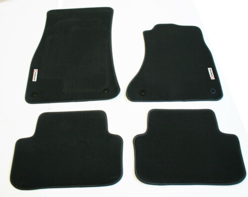 01-06 Richbrook Grey Carpet Car Mats with Leather Trim BMW Mini Mk1