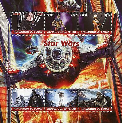 Mali 2018 CTO Star Wars Luke Skywalker Princess Leia Han Solo 1v M//S Stamps
