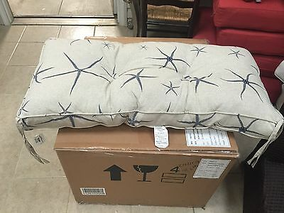 Fantastic Ballard Designs Outdoor Patio Farmhouse Bench Swing Cushion Sea Starfish 17X37 Ebay Inzonedesignstudio Interior Chair Design Inzonedesignstudiocom