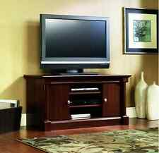 Entertainment Center Wood TV Stand Table Flat Screen Console Multi Media Cherry
