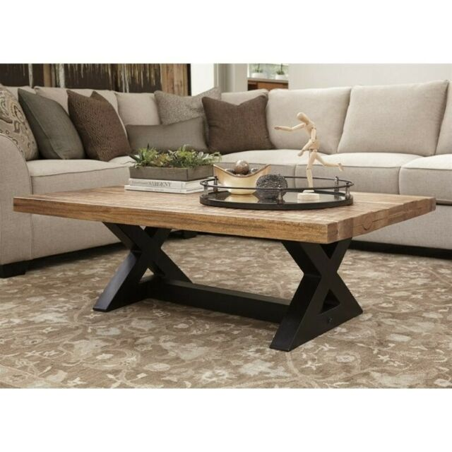 Ashley Furniture Wesling Rectangular Coffee Table In Light Brown