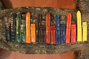 Genuine-Crocodile-Alligator-Skin-Leather-Watch-Strap-Band-18mm-24mm