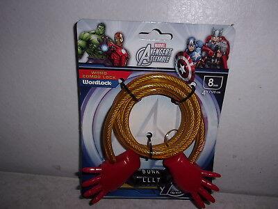 WordLock Marvel Ultimate Spider Man Word Combo 8mm Bicycle Lock 4 Foot 15165M