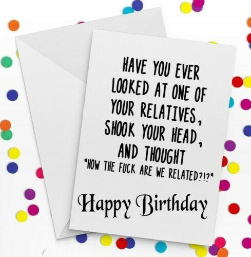 DONT GIVE A F ** K Carte sweary Cadeau Plaisanteries carte drôle Rude cadeau d/'anniversaire