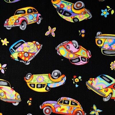 Cars Red  100/% cotton fabric sold per fat quarter// half metre