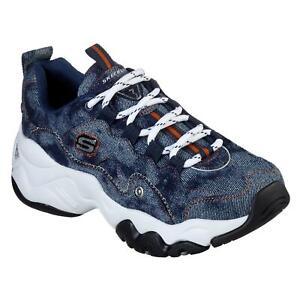 Skechers DLite 3 DB Sneakers Ladies Runners Laces Fastened Retro Memory Foam