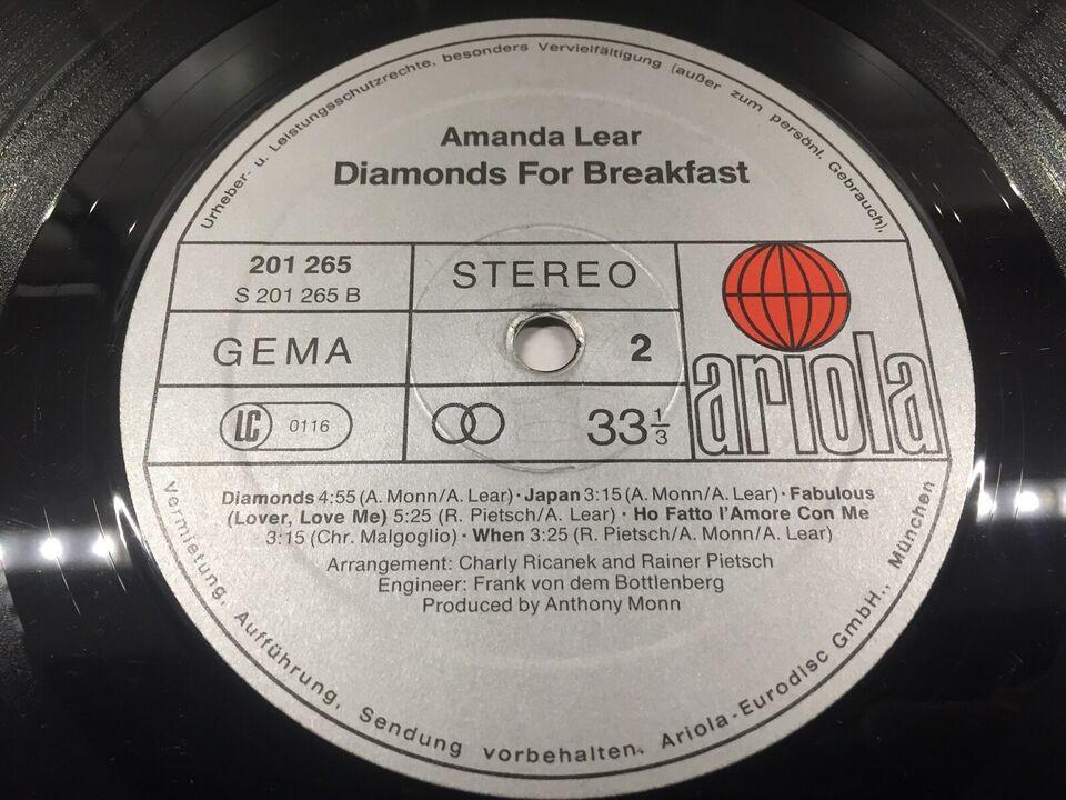 LP, Amanda Lear, Diamonds For Breakfast