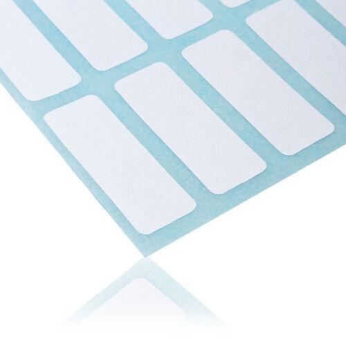 12x Blanko Aufkleber Etiketten Sticker Selbstklebend Label Papier 13*38mm Weiß