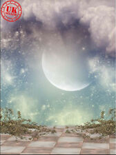 Telón de fondo de ensueño Luna magia en la nube de bebé Fondo Vinilo Foto Pro 5X7FT 150x220CM