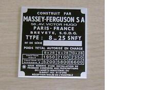 Massey Ferguson FE35 Tractor Commission Plate