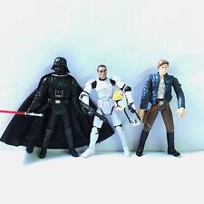 3x STAR WARS 501st Clone Pilot TROOPER Han Solo Darth Vader Figures Boy Baby Toy