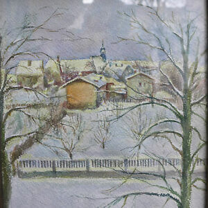 Aquarell-Oberursel-1945-signiert-F-Enlen-45-bez-Fuellerstrasse-Hospitalkirche