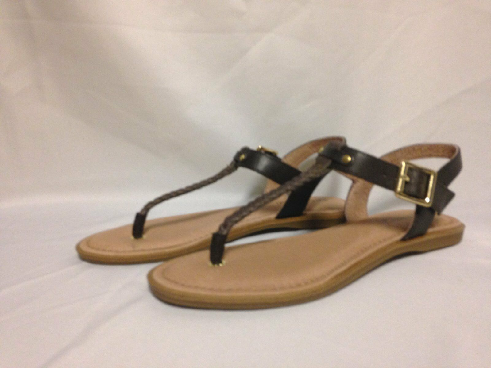 Sperry Top Sider Virginia Sandal 6 M Brown STS93759  New w Box