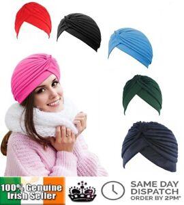 Women-Stretchy-Head-Wrap-Chemo-Bandana-Beanie-Hat-Turban-Band-Pleated-Headwrap