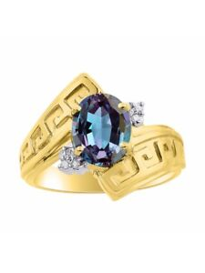 Diamond Halo Diamond /& Green Sapphire Ring Set In Yellow Gold Plated Silver Color Stone Birthstone Ring