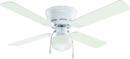 """42/"""" Mainstays Hugger Indoor Ceiling Fan with Light White"""