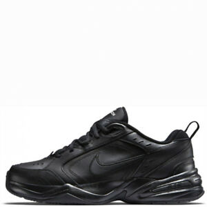 online retailer 8c5d7 156e1 Image is loading Nike-Air-Monarch-IV-Black-Black-Leather-For-