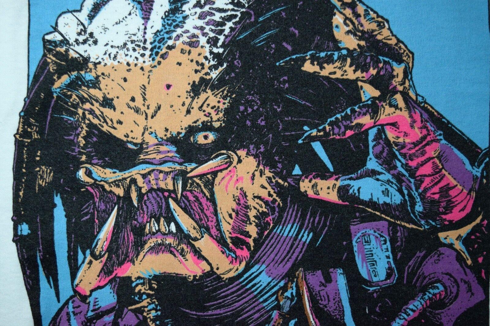 1987 PROTATOR t-shirt vtg 80s cult horror movie Schwarzenegger screen stars L/XL