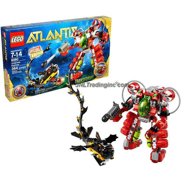 NEW 2010 LEGO Atlantis Series Special Edition Set   8080 UNDERSEA EXPLORER 364Pc