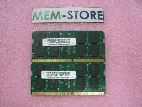 64GB 2x32GB DDR4 2133 SOD Memory ThinkPad P51 P70 Mobile Workstation 7th Gen