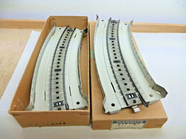 2 X Märklin H0 7167 M Track Bent Ramp Pieces Metal New Original Packaging