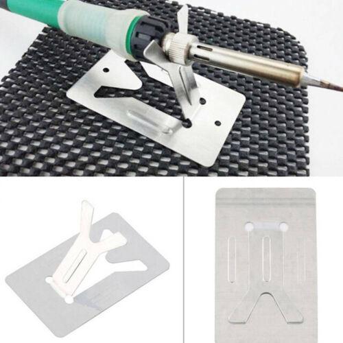2Pcs electric soldering iron pen holder metal base solder iron stand diy tooJKU