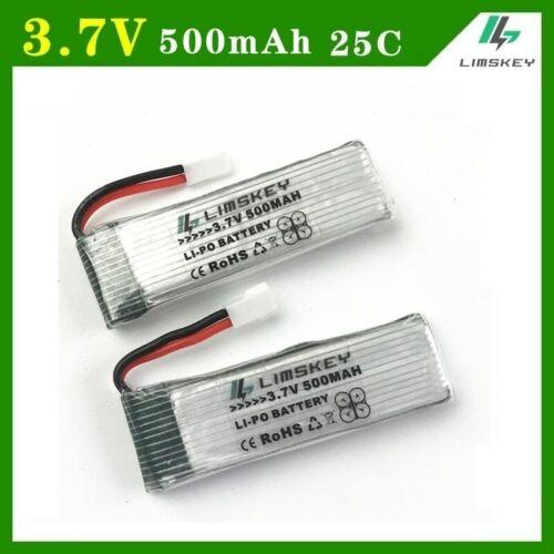 SUPER 2pcs//set 3.7V 500mah 25c Lipo Batteries For H37 E50 3.7v battery RC
