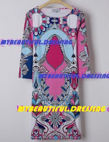 #583 DESIGNER MULTICOLOR JERSEY SILK DRESS MW007827