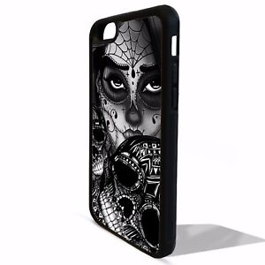 pretty nice a2757 f44ef Details about Sugar skull girl mexican tattoo skeleton graphic cover case  for Iphone 8 8 plus