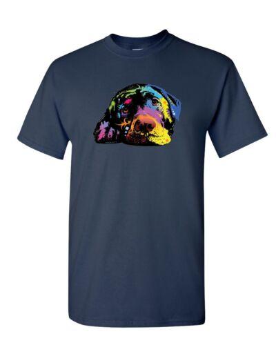 Lying Labrador Retriever T-Shirt Dean Russo Neon Lab Pet Lovers Mens Tee Shirt