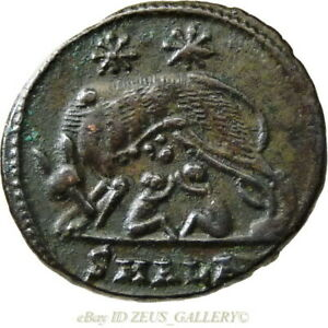 SHE-WOLF-Twins-ROMULUS-RARE-CONSTANTINE-The-GREAT-Alexandria-Ancient-Roman-Coin