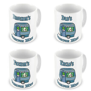 Brother/Dad/Father/Grandad/Son/Uncle... Male Caravan Novelty Gift Mugs - Blue