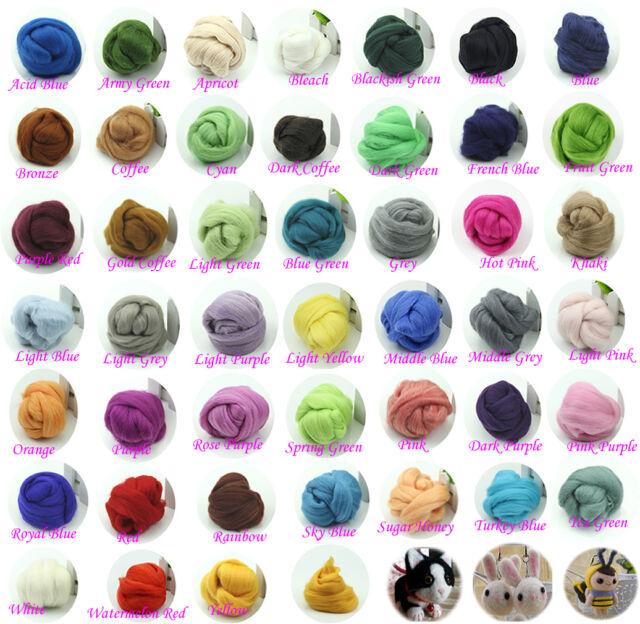 Wool Corriedale Needlefelting Top Roving  Dyed Spinning Wet Felting Fiber