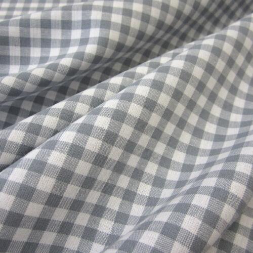 Stoff Meterware Baumwollstoff Baumwolle Karo Vichykaro Vichy grau weiß 4 mm