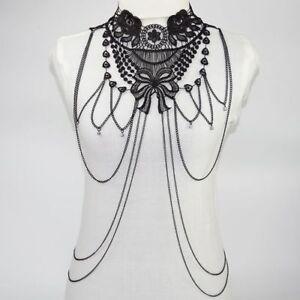 Body-Chain-Jewelry-Harness-Women-Bikini-Us-Chest-Necklace-Rhinestone-Crystal-Bra