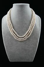 "Dr. Pearl 6-7 mm Baroque Triple Strand White Pearl Necklace 17""/19""/21"""