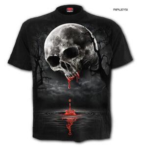 Spiral-Direct-Unisex-T-Shirt-Vampire-Goth-DEATH-MOON-Blood-Drip-Skull-All-Sizes