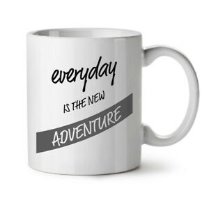 Everyday Adventure NEW White Tea Coffee Mug 11 oz   Wellcoda