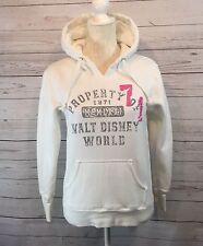 Disney Parks Sweatshirt Small Hooded Hoodie White Pink Distressed Disney Parks S