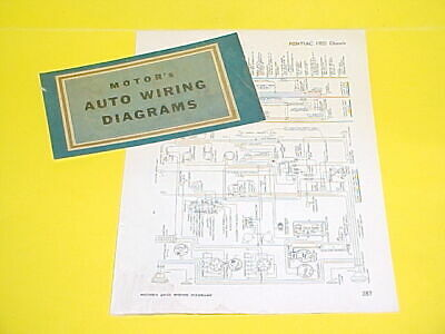 1950 1951 1952 1953 1954 1955 1956 Pontiac Star Chief Chieftain Wiring Diagrams Ebay
